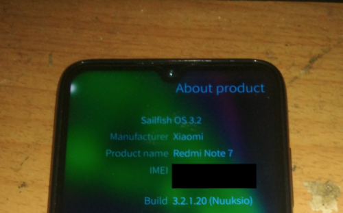 Redmi note 7 Sailfish OS
