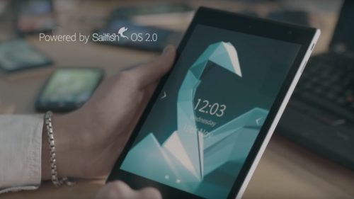jolla tablet with hands