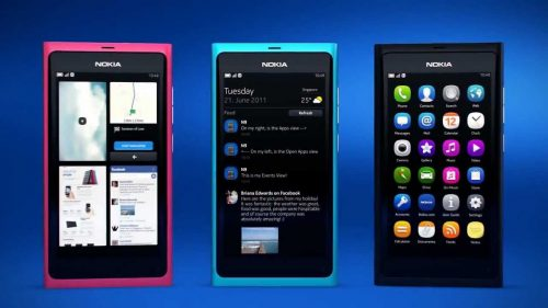 nokia n9 magenta cyan and black