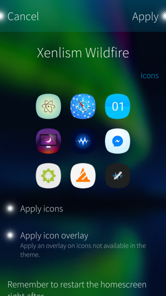 UI themer icons