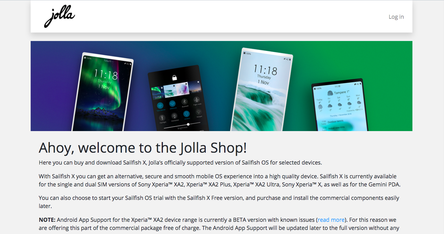 Get Sailfish X • Jolla Devices